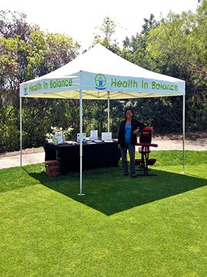 Chiropractic Laguna Beach CA Chamber Golf Booth