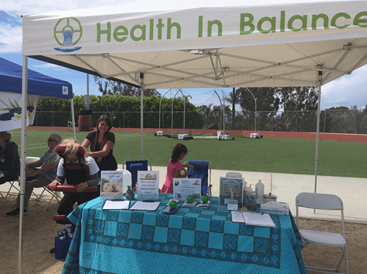 Chiropractic Laguna Beach CA Event Booth Massage