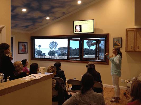 Chiropractor Laguna Beach CA Beauty Night Presentation With Dr Lisa Arthur